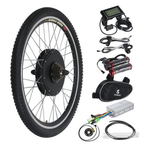 48V 1000W Elektro-Fahrrad Kit Ebike Elektrofahrrad Umbausatz Hinterrad m. LCD