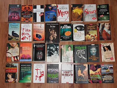 Sammlung 32 Bücher, Romane, Historische Romane, Thriller, Kriminalromane