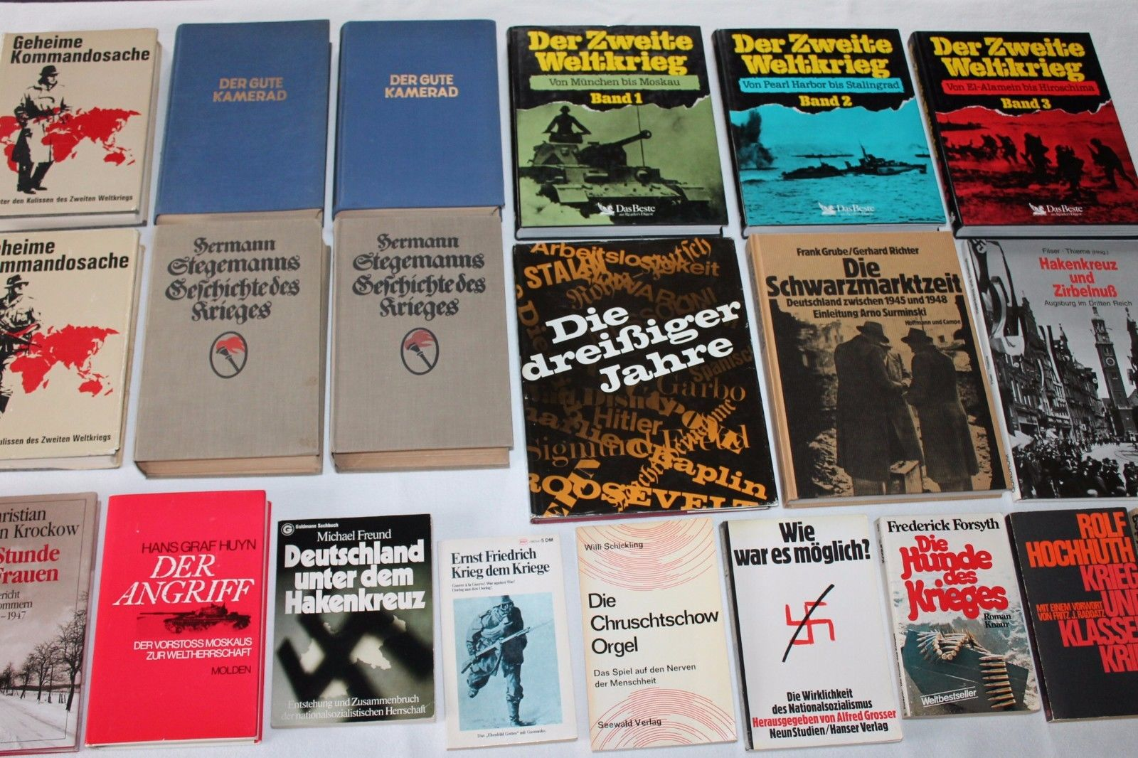 21 Bücher Sammlung, Zweiter Weltkrieg, Hakenkreuz, Seekrieg, Feldzug,Schwarzmark