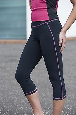 Damen Capri 3/4 Laufhose Fitness Leggins Girlie Pant Running Jogging