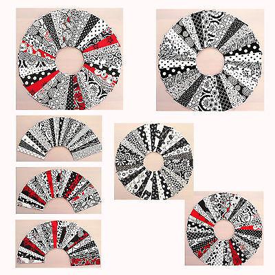 Patchwork Stoffe Stoffstreifen 4x10cm + 3,5x10 cm Basteln Nähen SCHWARZ-WEIß