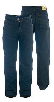 Mens Quality Big/Tall Black Stretch Jeans 40