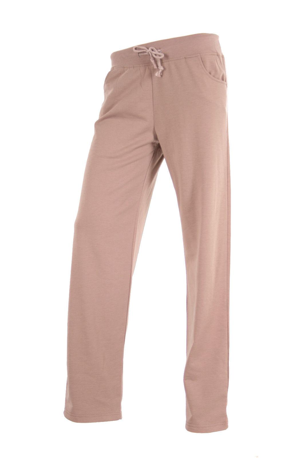 NEU Damen Sporthose Ganeder Yoga Hose Fitnesshose Relaxhose S M L XL Beige Grau