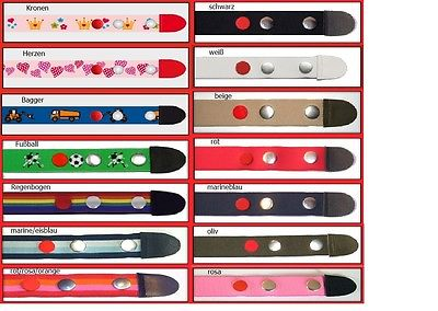 Clip.Ho- Gürtel ohne Schnalle Kindergürtel Gr. 92 - 116