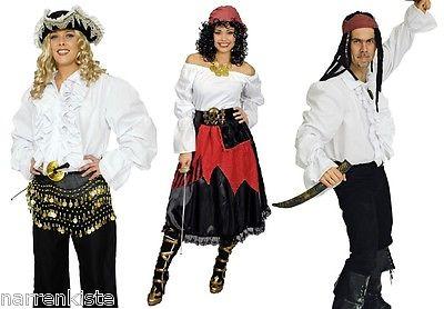Piratenhemd Pirat Kostüm Hemd Bluse Rock Piratenkostüm Gotic Rokoko Piratenbluse