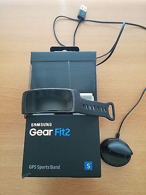 Samsung Gear Fit 2 dunkelgrau Größe S ++Top Zustand++