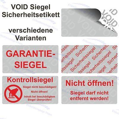 VOID Siegel Sicherheitsetiketten auf Rolle - 40 x 20 mm - silber