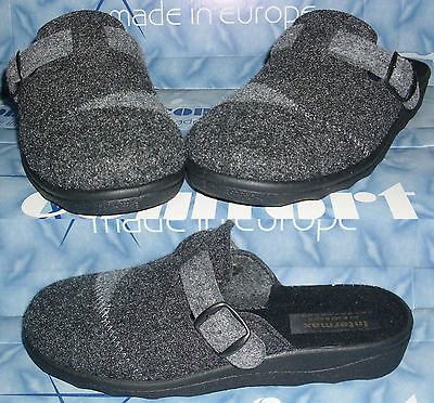 INTERMAX Hausschuhe Pantoffeln leichte Schlappen Puschen Patchwork Filz 36-40
