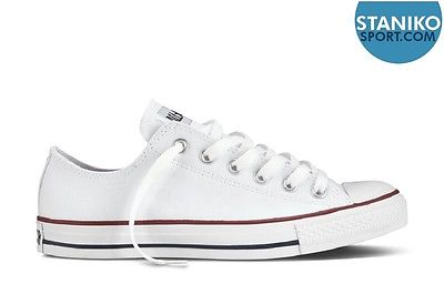 Unisex Converse ALL STAR OX Optic White Canvas Trainers M7652C RRP £49.99