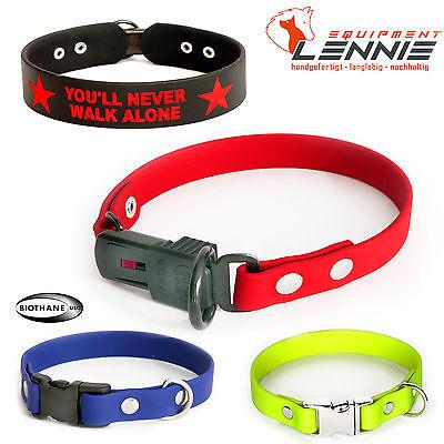 BioThane Hundehalsband/Halsband 19 mm; Klickverschluss,Aufdruck,ClicLock,Alu,YKK