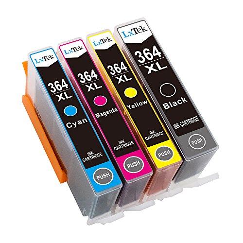 LxTek Kompatibel Tintenpatronen Ersatz für HP 364XL 364 Hohe Kapazität 4 Pack ( 1 Schwarz, 1 Cyan, 1 Magenta, 1 Gelb ) für HP Deskjet 3070A, Photosmart 4622 5510 5511 5512 5514 5515 5522 5524 5520 6510 6520 6512 6515 7510 7515 7520 Drucker