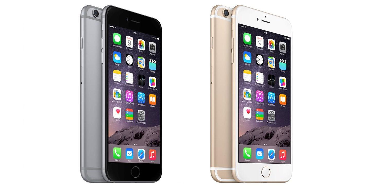 Apple iPhone 6 spacegrau / iPhone 6 Plus gold - 16GB