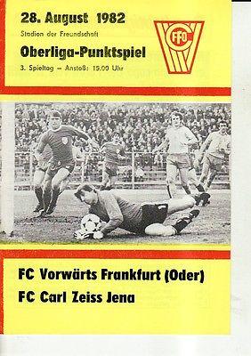 OL 82/83 FC Vorwärts Frankfurt/O. - FC Carl Zeiss Jena