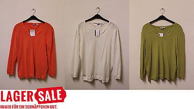 Damen Oberteil Übergröße Top Shirt Baumwolle - Weiß, Grün, Orange - Gr. 44-60