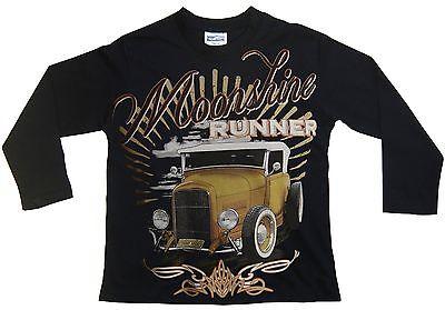Hot Rod Moonshine Runner Kinder Langarm T-Shirt