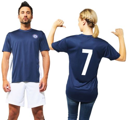 Chelsea Official Football Club T Shirt with Number Training 2015 2016 Kit Top