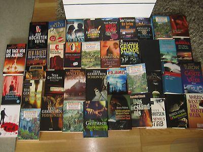 Büchersammlung 40 Stk. Romane Bücherpaket Spannung nur Thriller Krimi Konvolut 1