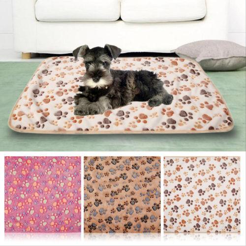 Niedliche Haustier Matte Paw Katze Hund Welpe Fleece weiche Decke Bett Kissen