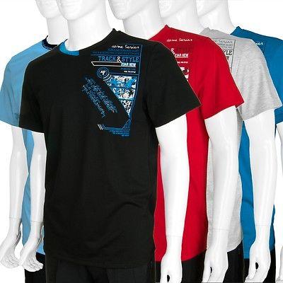 Herren T-Shirt Kurzarmshirt für Jungs & Männer m. coolem DruckNeu M -2XL Art.50