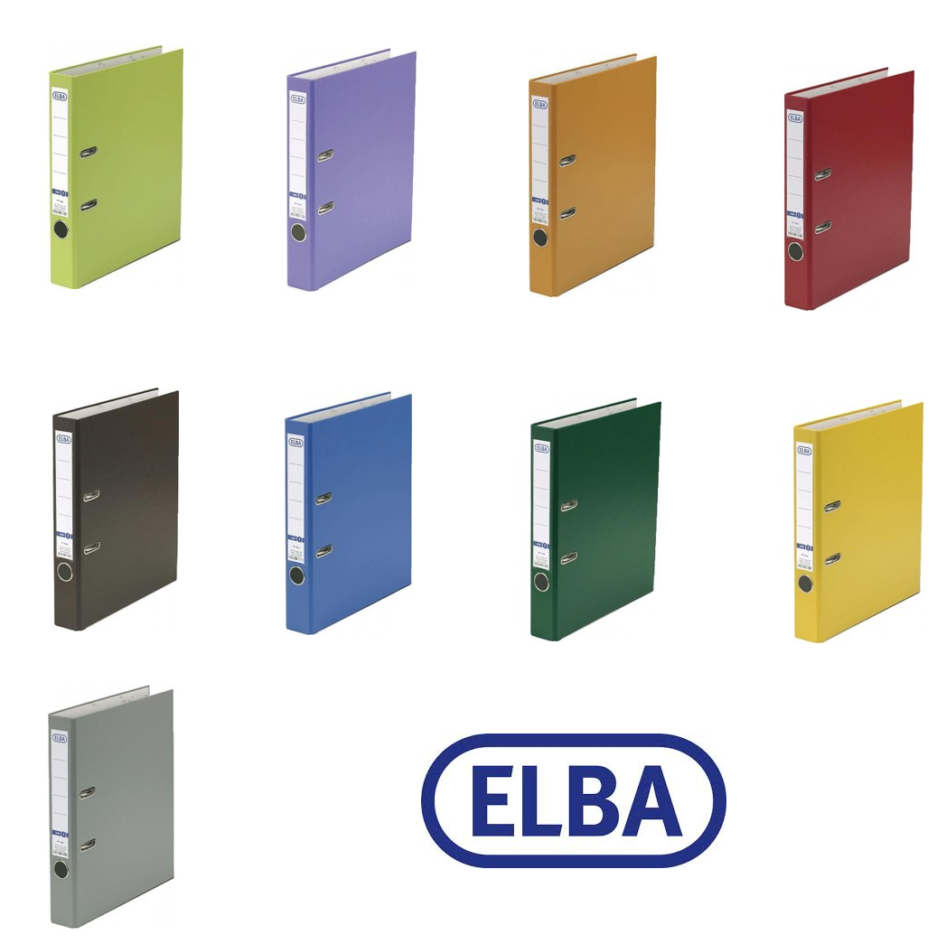 ELBA Rado Basic Ordner PP Kunststoff 5 cm Aktenordner Din A4 50 mm sehr stabil
