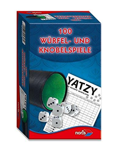 Noris Spiele 606154308 - 100 Würfel- und Knobelspiele, Familienspiel
