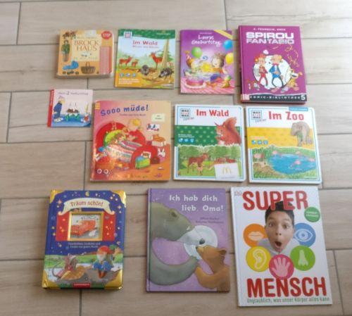 11 (Klein-) Kinderbücher, u.a. Brockhaus, Was ist Was, Spirou & Fantasio