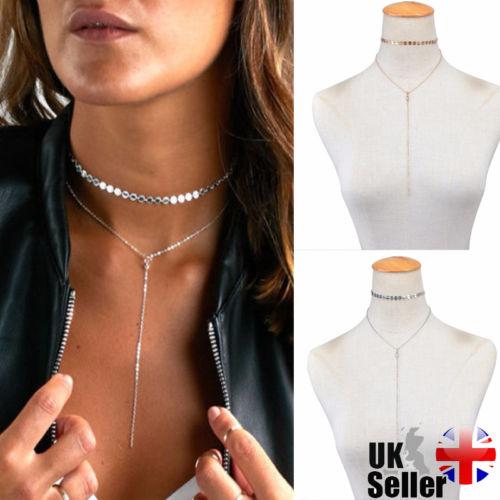 Fashion Charm Tassel Pendant Alloy Choker Chocker Necklace Women's Jewelry Bib