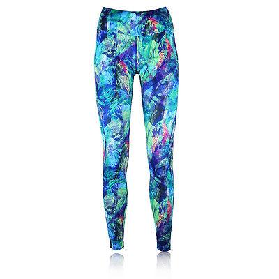 Asics Graphic Damen Laufhose Jogginghose Sport Hose Tight Fitnesshose Mehrfarbig