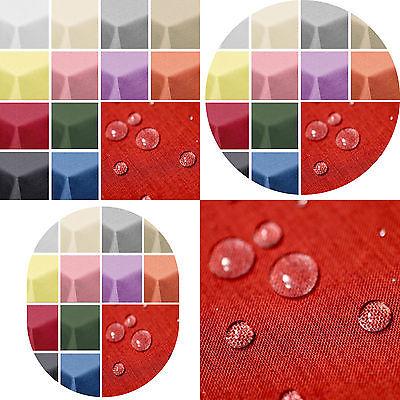 amp-artshop© Leinen Optik Tischdecke Form Farbe Größe wählbar Lotus Effekt