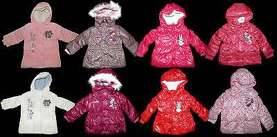 Disney Minnie Jacke Winterjacke Parka Anorak Mantel rosa weiß 68 74 80 86 92 NEU
