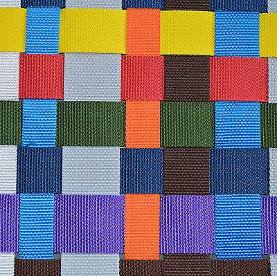 25mm Gurtband - Taschengurt - Halsband - Leine  / 1 2 3 bis 50 Meter in 8 Farben
