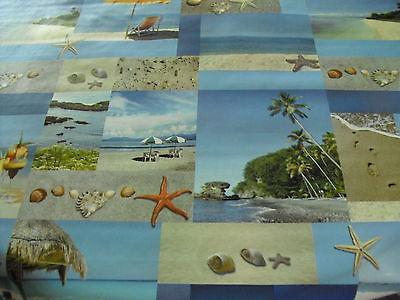 Tischdecke Wachstuch Rund 90-140 cm , Karibik