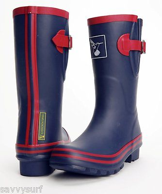 Ladies Wellies Winter Boots Designer Rubber Wellingtons Short Evercreatures Navy