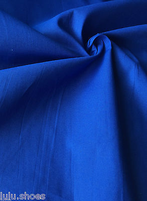 Plain COBALT BLUE Cotton Fabric Material - 120cm wide per metre