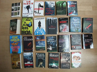 Buchpaket mit 26 Krimis / Thriller