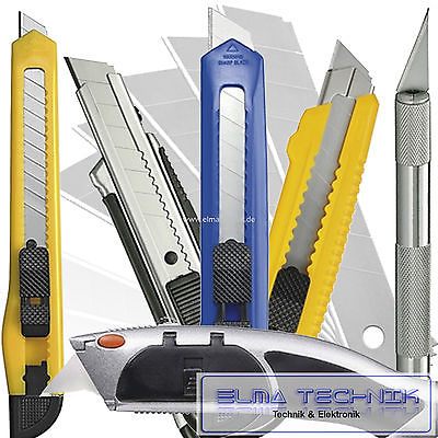 Universalmesser Cuttermesser Teppichmesser Abbrechklingen Tapetenmesser 18mm 9mm