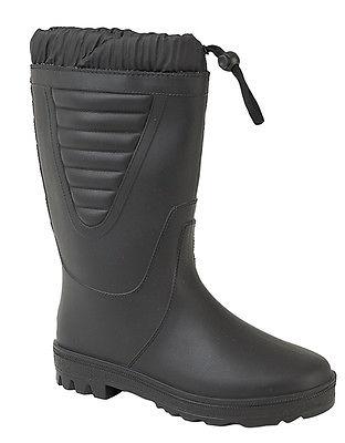 Ladies New Black Tie Top Cosy Faux Fur Lined Polar Waterproof Boots Winter