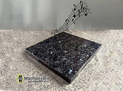 Labrador Blue Pearl 3cm stark Entkopplungsplatte Gerätebasis Lautsprecher Granit