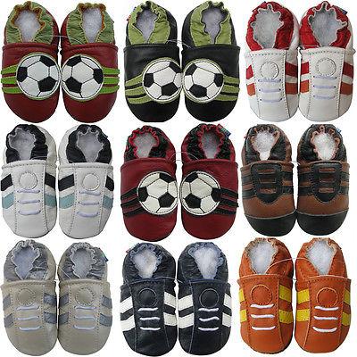 Shoeszoo Carozoo World Cup FIFA Lederpuschen Krabbelschuhe Leder Hausschuhe