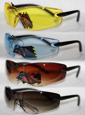 Safety Brille Sportbrille Sonnenbrille Radbrille Sicherheitsbrille klar gelb 767