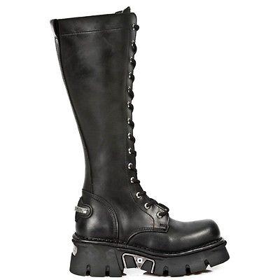 NEW ROCK Unisex Punk Boots Style M.235 S1 Black Reactor