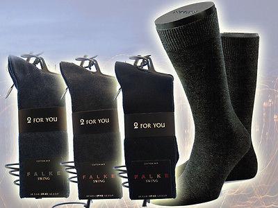 FALKE Swing 2 Paar Herren Socken GR. 39-42, 43-46, 47-50 in 3 Fb. Socke Twopack