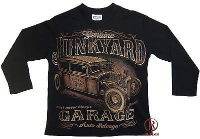 Hot Rod Cars Garage Kinder Langarm T-Shirt