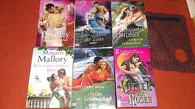 6 Bücherpaket historische Liebesromane Frauenromane Büchersammlung Romantik