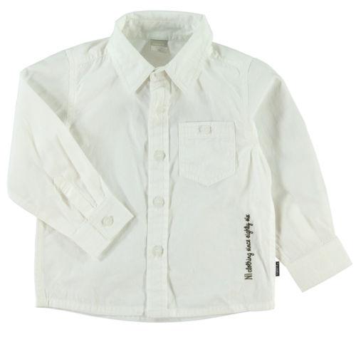 Name it Oberhemd Hemd Jungen Weiß Baumwolle Model VOHN Gr 80-104