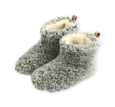 Damen Hausschuhe, Hüttenschuhe, Pantoffeln, Lammfell, Schaffell, 100% Schafwolle