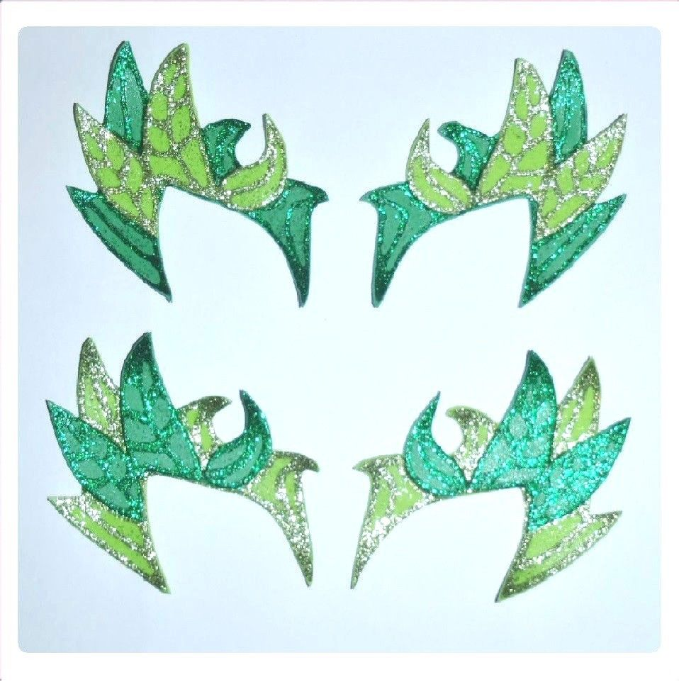Poison Ivy Costume Eyebrows Mask DUO Colour Glittery 4 styles Cosplay Batman