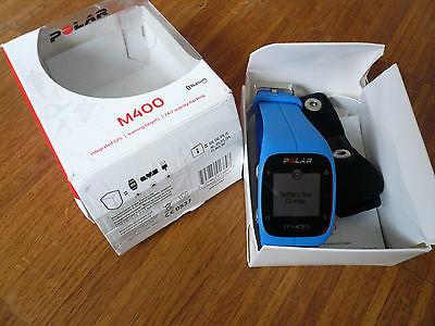 Polar M400 GPS Sportuhr Laufuhr blau