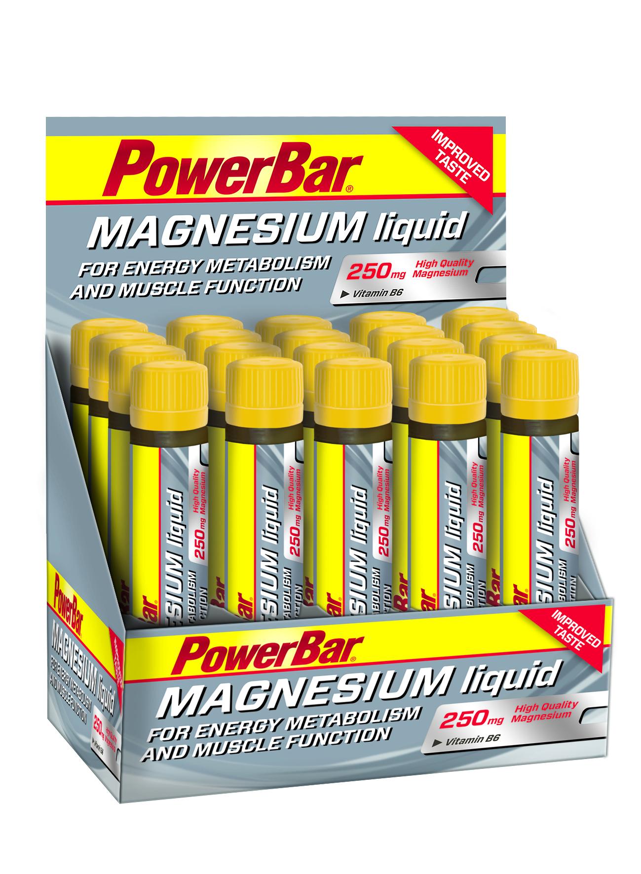 (32,04EUR/L) Powerbar - Magnesium Liquid 20 x 25ml Ampullen