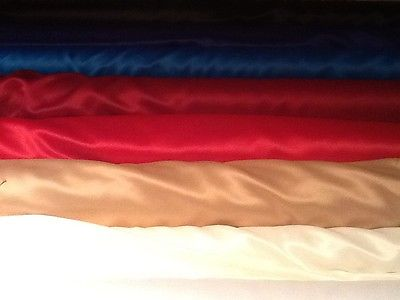 Superior quality Dull Duchess satin fabric for prom, bridal £6.95/m 1.48cm wide